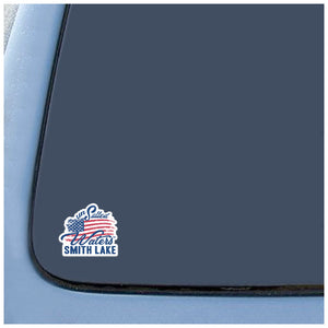 Smith Lake American Flag Decal Sticker