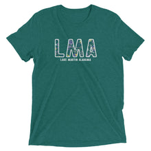 LMA Floral Lake Martin Alabama Short sleeve tri-blend t-shirt