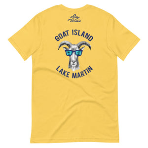 Party Goat Island Lake Martin Short-Sleeve Unisex T-Shirt UnSalted Waters