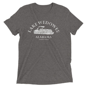 Lake Wedowee Pontoon Short sleeve triblend t-shirt