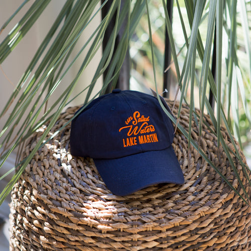 Navy & Orange Lake Martin Hat