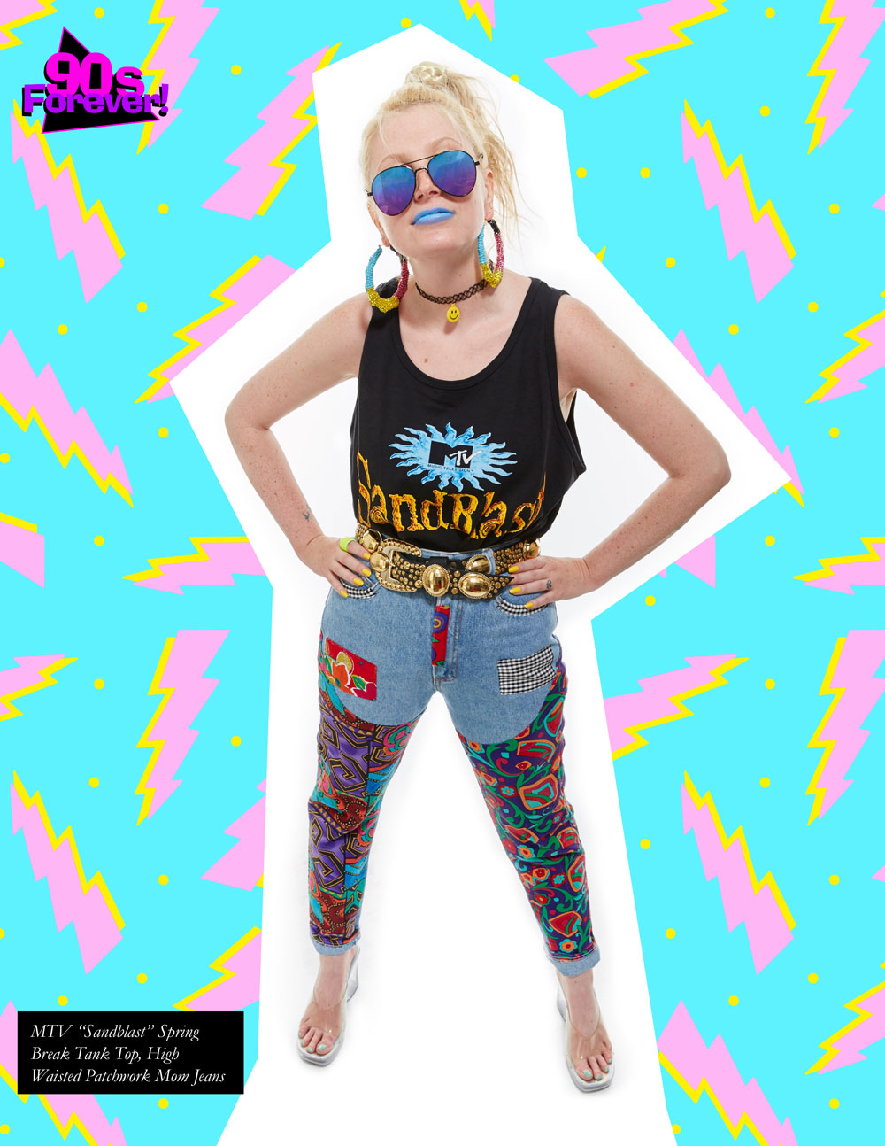 90s Forever Retro Vintage Fashion Apparel Lookbook - studded knit crop top with acid wash and lycra  skinny jeans