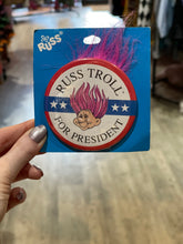 Vintage 80s Troll for President Pin with Hair