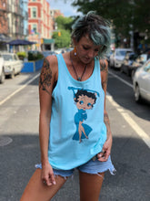 Vintage 80s Turquoise Betty Boop Tank Top | T Shirt - 80s 90s Retro Vintage Clothing | Spark Pretty