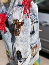 Vintage 80s Sequin Bedazzled Fringe Acid Wash Jean Jacket | Jackets - 80s 90s Retro Vintage Clothing | Spark Pretty