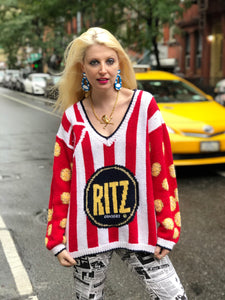 Vintage 80s Ritz Cracker Novelty Sweater - Spark Pretty