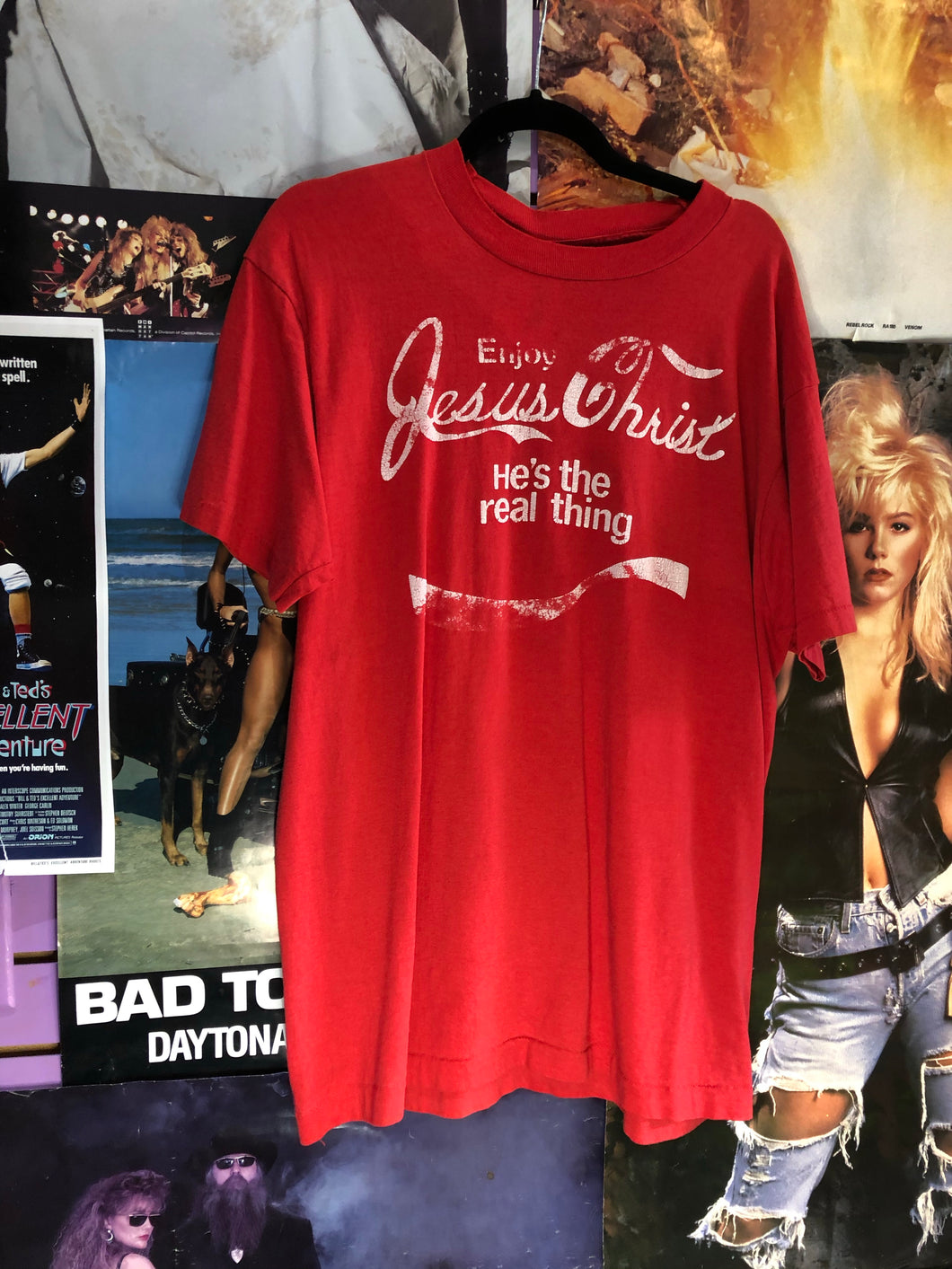 Vintage 80s Jesus Coke a Cola Novelty T-shirt | T Shirt - 80s 90s Retro Vintage Clothing | Spark Pretty