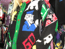 Vintage 80s 90s Monopoly Cardigan Sweater | Sweaters - 80s 90s Retro Vintage Clothing | Spark Pretty
