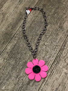 Pink Flower Necklace by Marina Fini | Necklaces - 80s 90s Retro Vintage Clothing | Spark Pretty