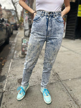 Vintage 80's Acid Wash High Waist Ankle Detail Jeans