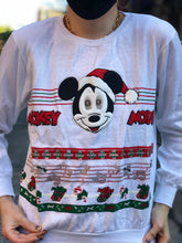 Vintage 80s Mickey Mouse Christmas Sweatshirt