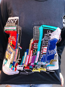 Vintage 80s NYC Times Square Embroidered T-shirt | T Shirt - 80s 90s Retro Vintage Clothing | Spark Pretty