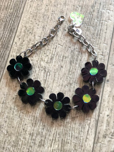 Black Flower Hologram Choker by Marina Fini | Necklaces - 80s 90s Retro Vintage Clothing | Spark Pretty