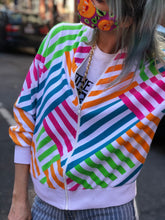 Vintage 90's Cotton Rainbow Stripe Windbreaker - Spark Pretty
