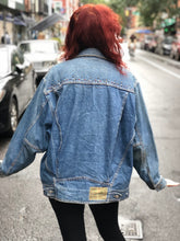 Vintage 80s Bedazzled and Studded jean jacket