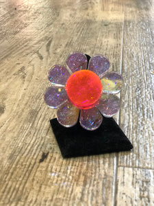 Glitter Holo Flower Ring by Marina Fini | Rings - 80s 90s Retro Vintage Clothing | Spark Pretty