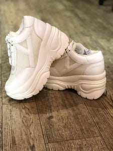 White Platform Sneaker by YRU | Shoes - 80s 90s Retro Vintage Clothing | Spark Pretty