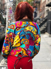 Vintage 90s Colorful Beaded Bomber Jacket