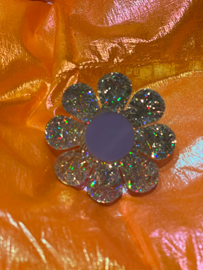 Glitter Flower Ring by Marina Fini