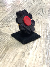 Black and Red Flower Ring by Marina Fini | Rings - 80s 90s Retro Vintage Clothing | Spark Pretty