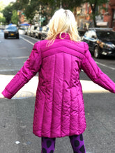 Vintage 80s Pink Puffer Mid Length Jacket