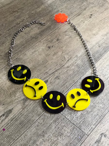 Smiley/Frowny Face Chain Belt by Marina Fini | Belts - 80s 90s Retro Vintage Clothing | Spark Pretty
