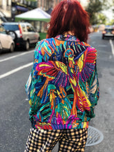 Vintage 80s Sequin Peacock Silk Jacket