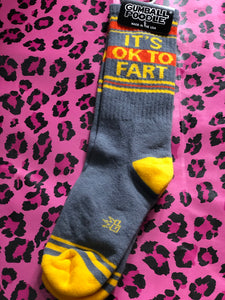 It's OK to Fart Socks by Gumball Poodle