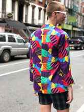 Vintage 80s 90s Neon Multi-Colored Blazer | Jackets - 80s 90s Retro Vintage Clothing | Spark Pretty