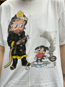Vintage 1994 Firefighter Betty Boop T-shirt