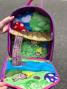 Vintage 90's Trollkins Mini Troll lunch box Purse - Spark Pretty