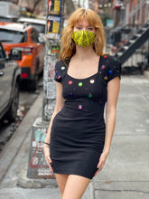 Vintage 90s Sequin Disc Mini Dress