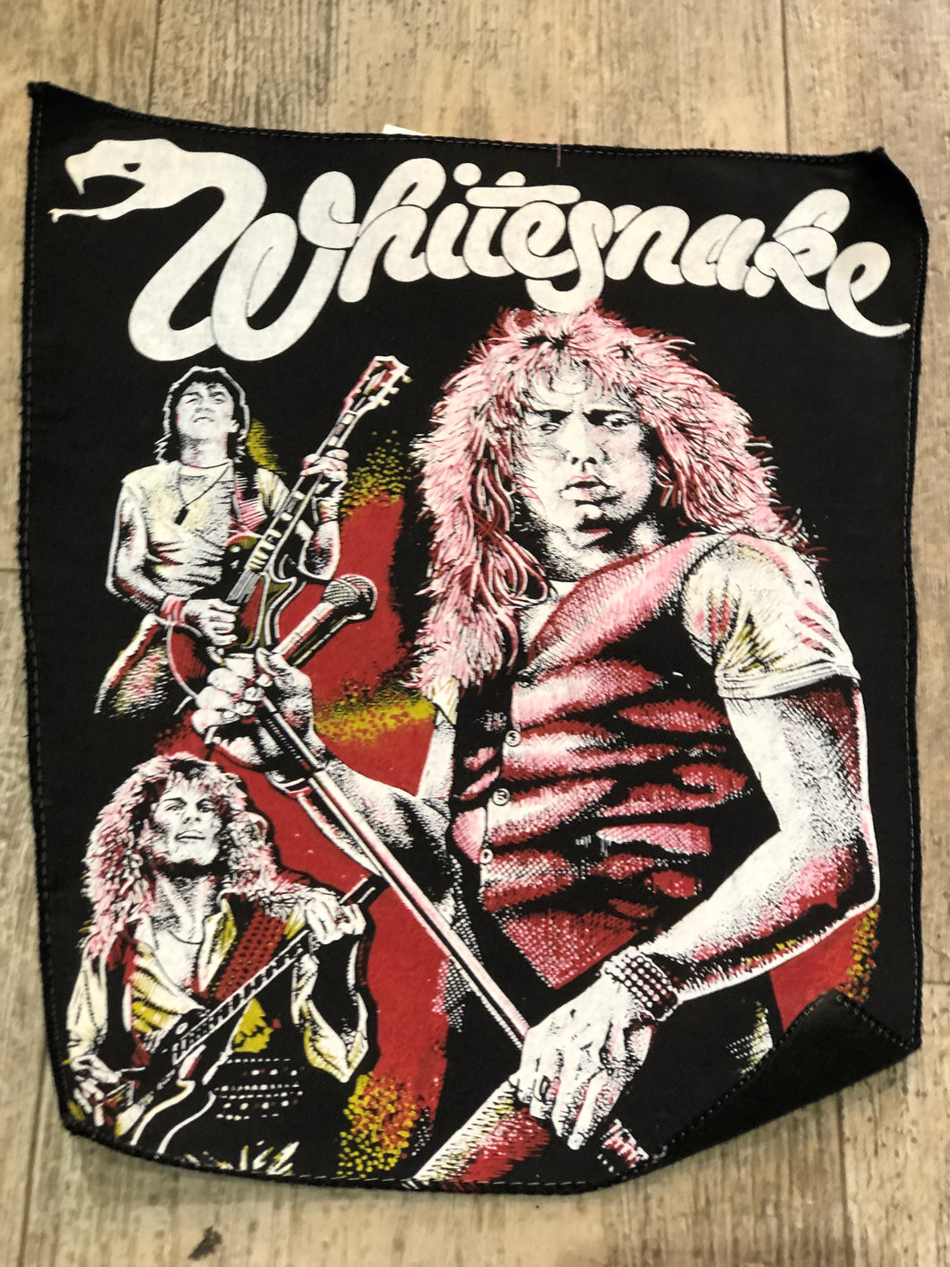 Vintage 80s Whitesnake Back Patch | Patches - 80s 90s Retro Vintage Clothing | Spark Pretty