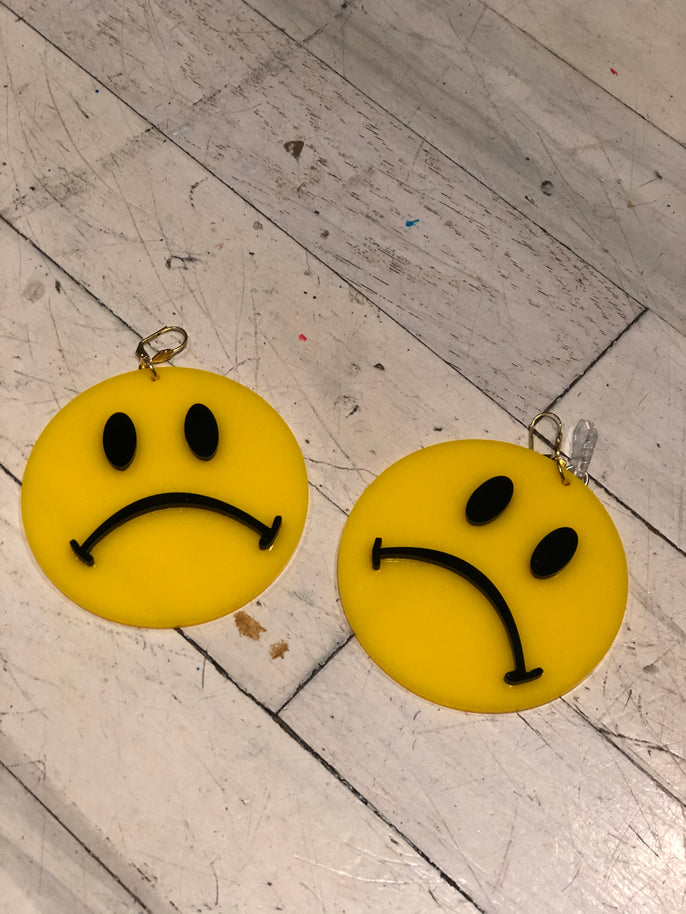 Frowny Face Earrings by Marina Fini | Earrings - 80s 90s Retro Vintage Clothing | Spark Pretty
