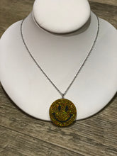 Smiley Face Glitter Necklace by No Basic Bombshell