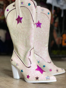 Sparkle Star Cowboy Boot by YRU | Shoes - 80s 90s Retro Vintage Clothing | Spark Pretty