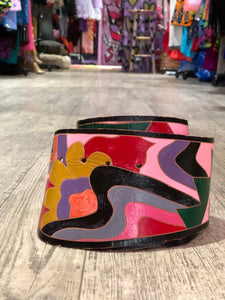 Vintage 80s Pink Painted Belt | Belts - 80s 90s Retro Vintage Clothing | Spark Pretty