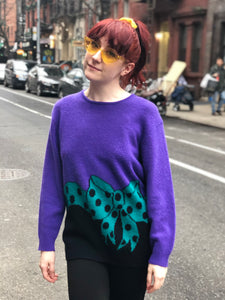 Vintage 80s Bow Sweater - Spark Pretty