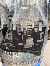 Vintage 80s New York Glittery Jean Jacket
