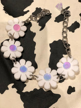 White Holo/Pink Reversible Flower Power Choker by Marina Fini | Necklaces - 80s 90s Retro Vintage Clothing | Spark Pretty