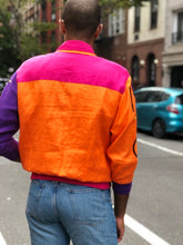 Vintage 90s colorful Sequin abstract bomber jacket - Spark Pretty