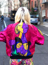 Vintage 90s Colorful Picasso Art Bomber Jacket