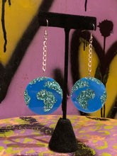 Earth Globe Glitter Earrings by No Basic Bombshell