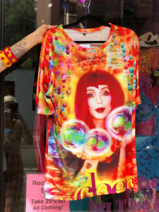 Y2K Colorful Cher Rave T-shirt | T Shirt - 80s 90s Retro Vintage Clothing | Spark Pretty