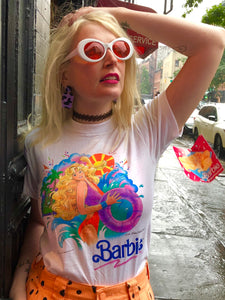 Vintage 1990 Barbie Beach Blast T-shirt | T Shirt - 80s 90s Retro Vintage Clothing | Spark Pretty