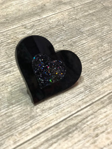 Black Heart Ring by Marina Fini | Rings - 80s 90s Retro Vintage Clothing | Spark Pretty
