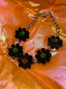 Black Flower Choker by Marina Fini