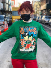 Vintage Mickey and Minnie Mouse Christmas Sweatshirt