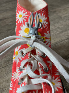 Vintage 80s Bugs Bunny Shoelace Accessory
