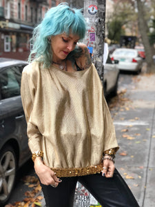 Vintage Goldie Disco Lurex Top